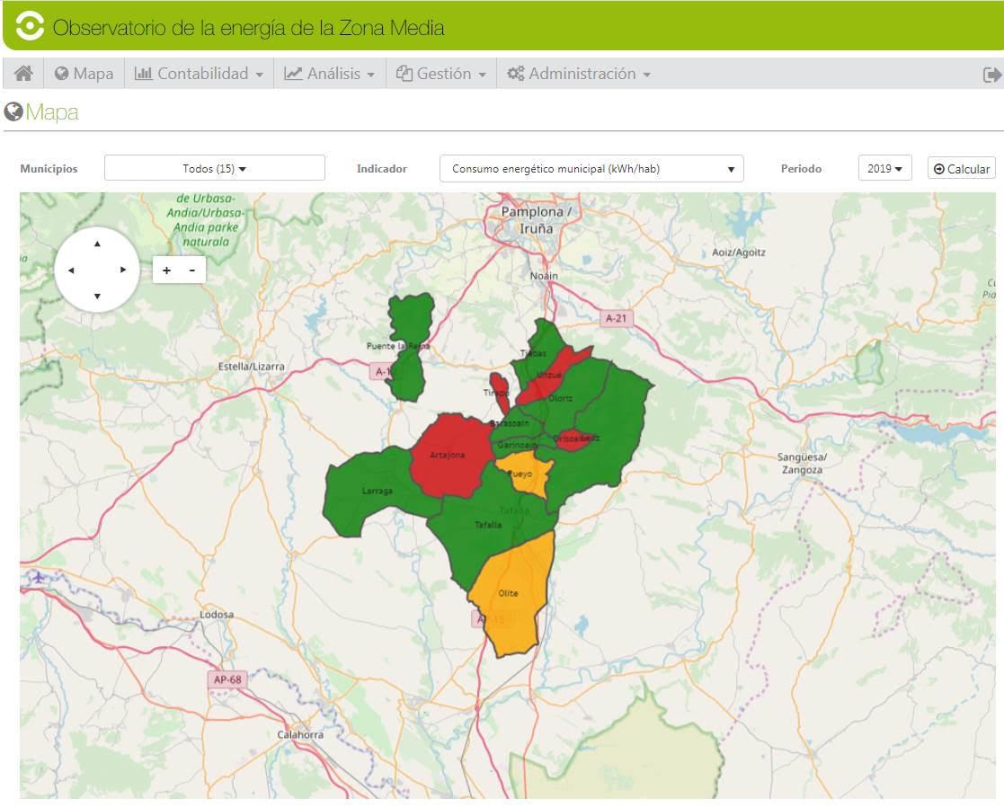 Gestión y planificación energética municipal en Zona Media de Navarra